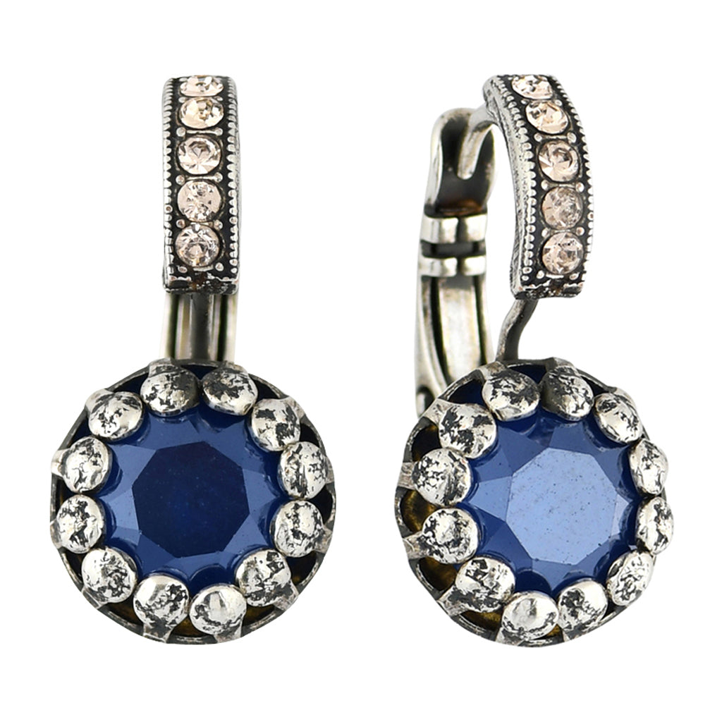 Mariana Jewelry Ocean Earrings, Silver Plated with Swarovski Crystal, Nature Collection MAR-E-1160 2142 SP6