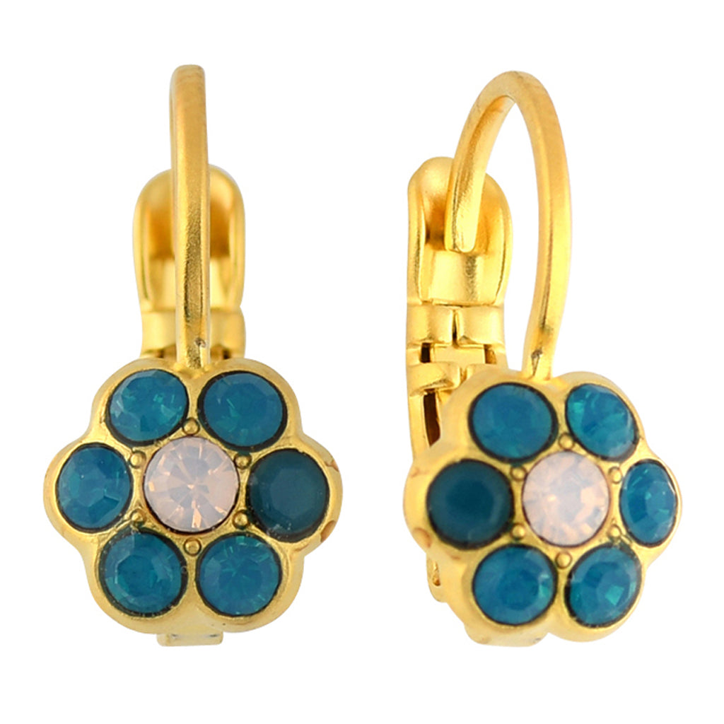 Mariana Jewelry Peacock Earrings, Gold Plated with Swarovski Crystal, Nature Collection MAR-E-1166_1 2139 YG6