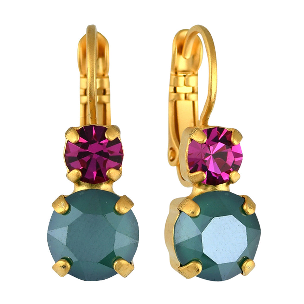 Mariana Jewelry Happy Days Earrings, Gold Plated with Swarovski Crystal, Nature Collection MAR-E-1190 1007 YG6