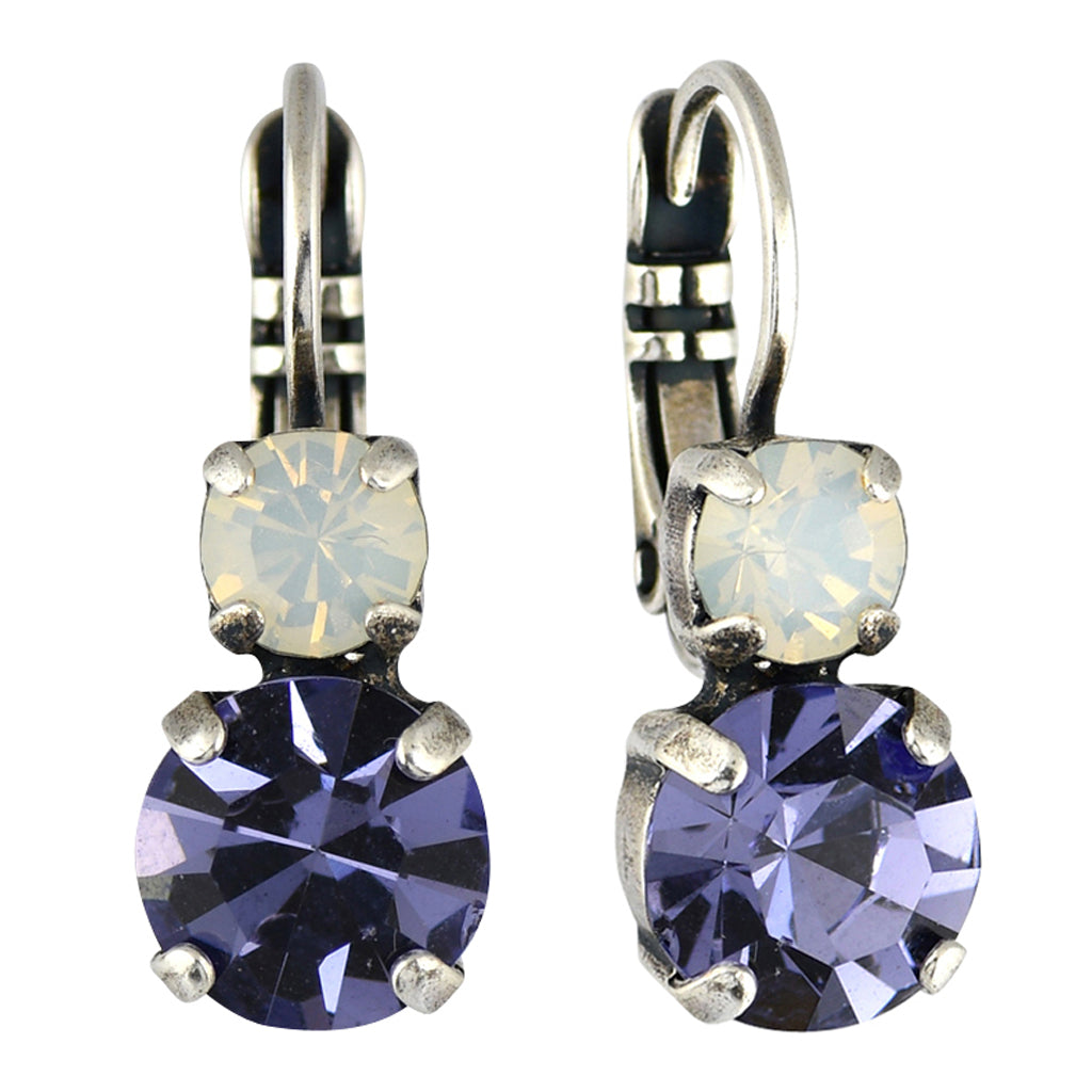 Mariana Jewelry Purple Rain Earrings, Silver Plated with Swarovski Crystal, Nature Collection MAR-E-1190 1062 SP6