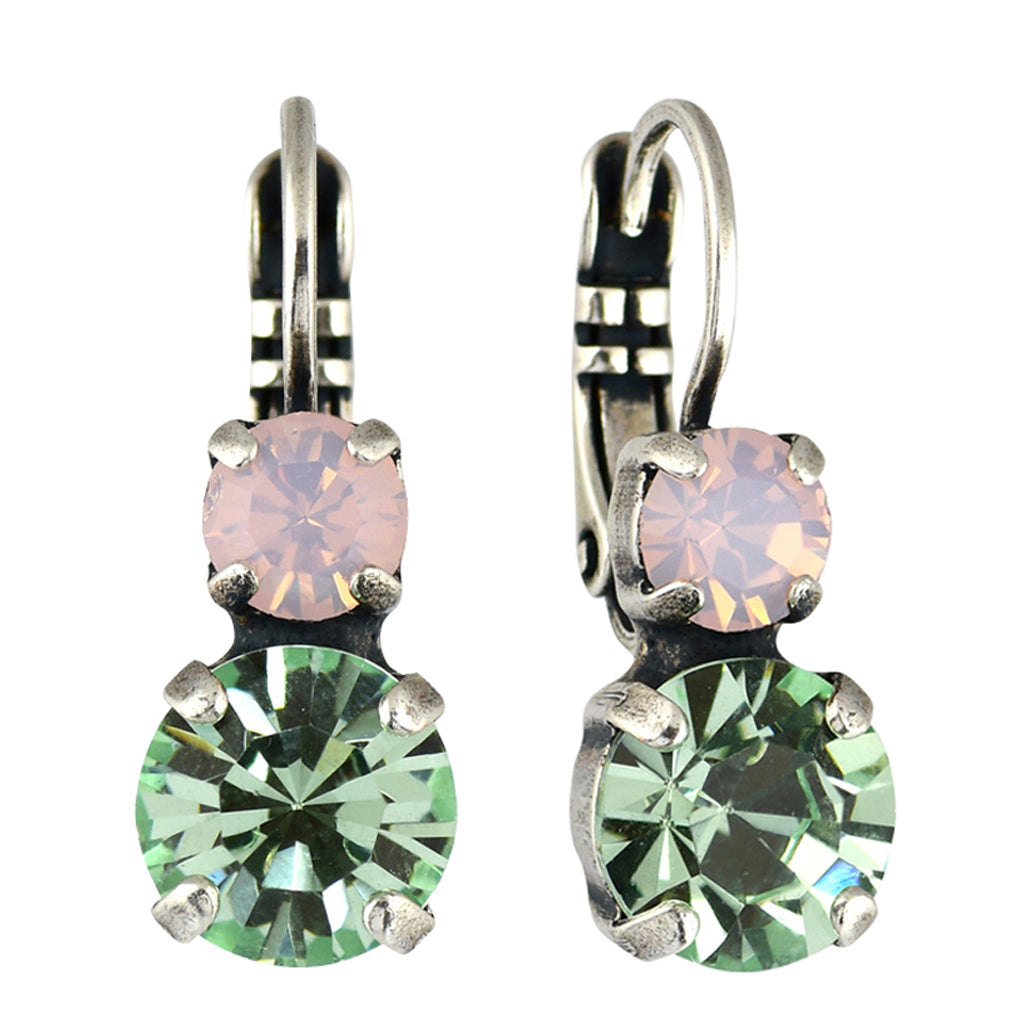 Mariana Jewelry Pina Colada Earrings, Silver Plated with Swarovski Crystal, Nature Collection MAR-E-1190 1063 SP6