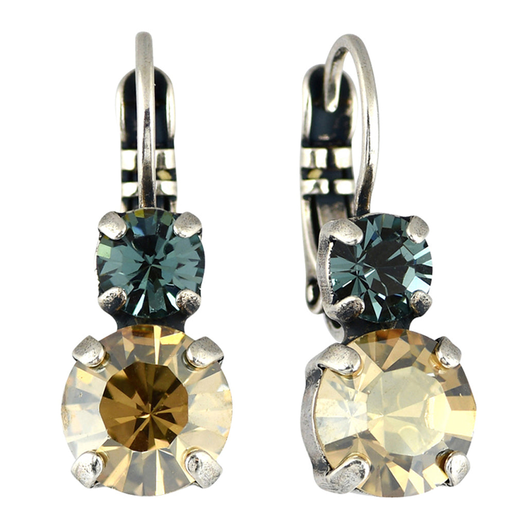 Mariana Jewelry Moon Drops Earrings, Silver Plated with Swarovski Crystal, Nature Collection MAR-E-1190 216-3 SP6