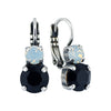 Mariana Jewelry French Silk Silver Plated Petite Round Crystal Drop Earrings