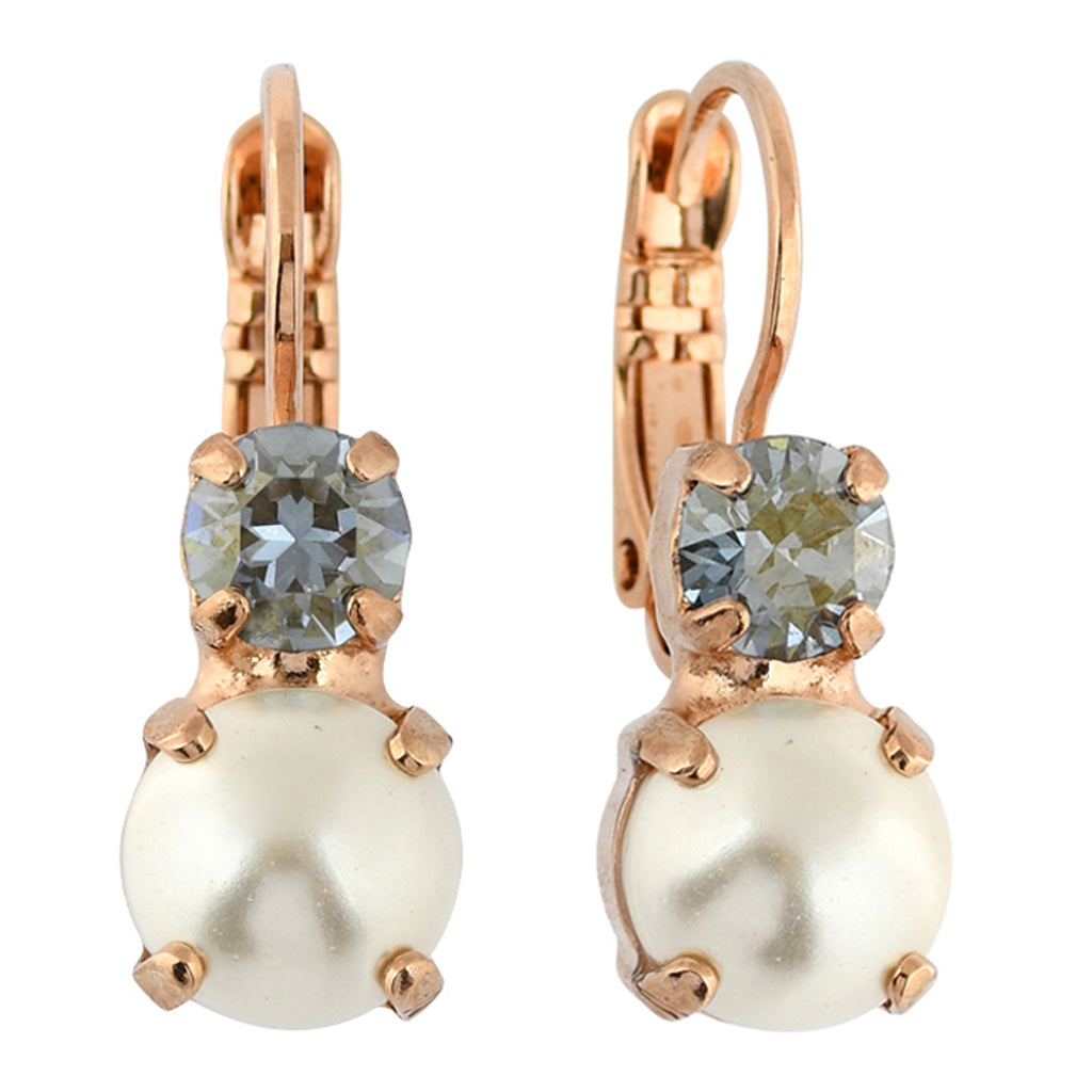 Mariana Jewelry Seashell Earrings, Rose Gold Plated with Swarovski Crystal, Nature Collection MAR-E-1190 39361 RG6
