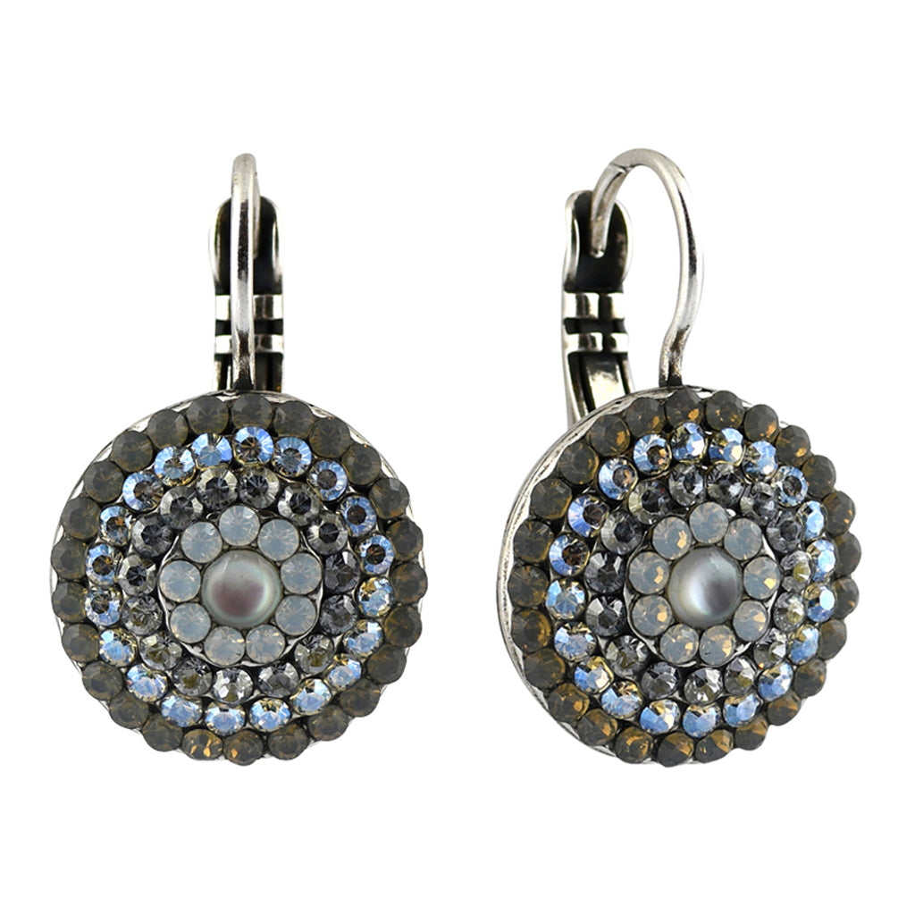 Mariana Jewelry Silk Earrings, Silver Plated with Swarovski Crystal, Nature Collection MAR-E-1193 1049 SP6