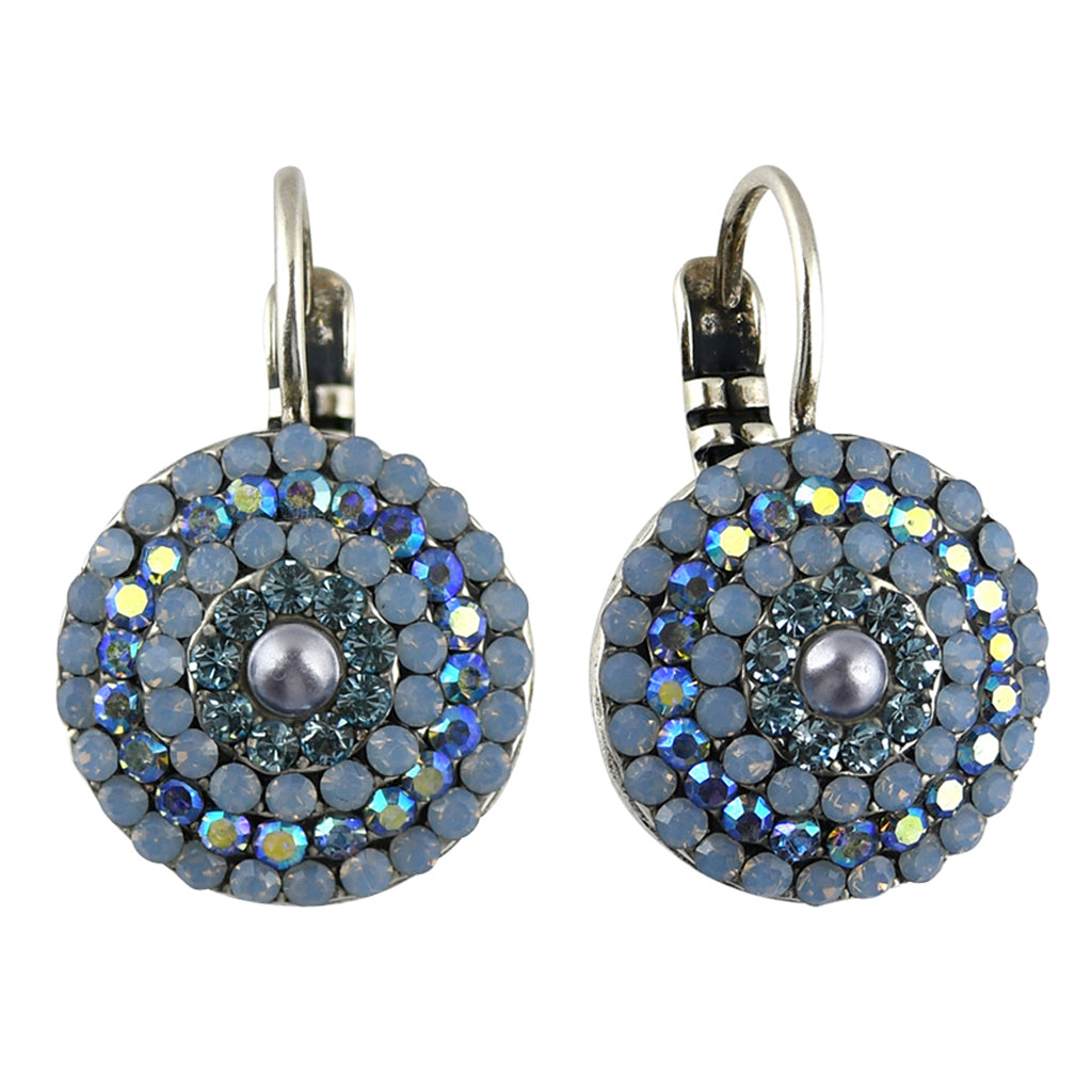 Mariana Jewelry Periwinkle Earrings, Silver Plated with Swarovski Crystal, Nature Collection MAR-E-1193 1343 SP6