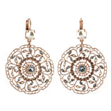 Mariana Jewelry Seashell Earrings, Rose Gold Plated with Swarovski Crystal, Nature Collection MAR-E-1210 39361 RG6