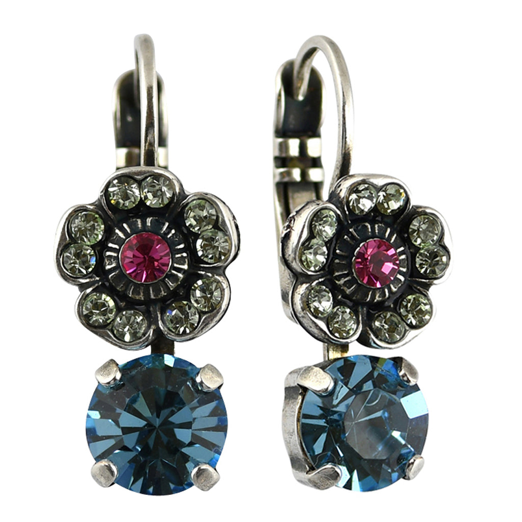 Mariana Jewelry Spring Flowers Earrings, Silver Plated with Swarovski Crystal, Nature Collection MAR-E-1211 2141 SP6
