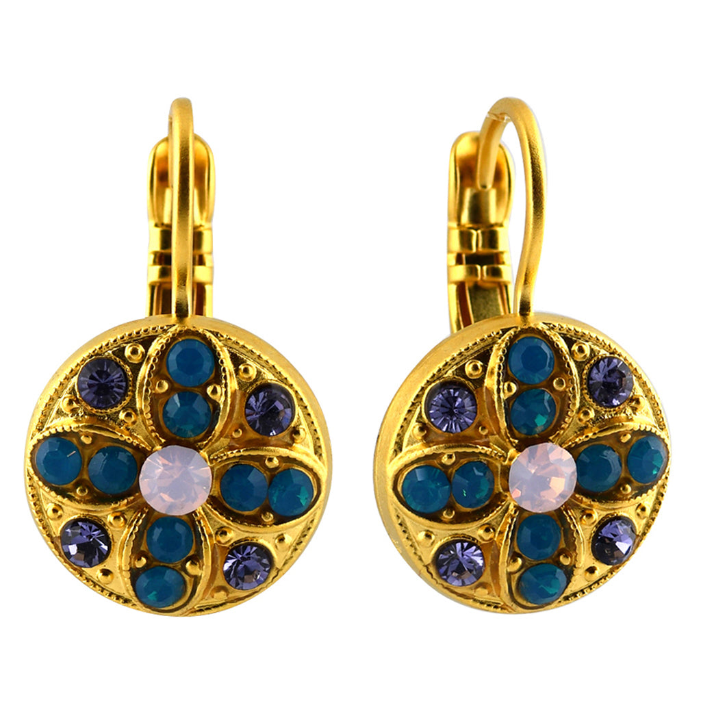 Mariana Jewelry Peacock Earrings, Gold Plated with Swarovski Crystal, Nature Collection MAR-E-1218 2139 YG6