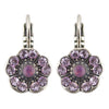 Mariana St Lucia Silver Plated Petite Blossom Crystal Drop Earrings