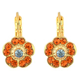Mariana Jewelry Tinsel Gold Plated Petite Blossom Crystal Drop Earrings