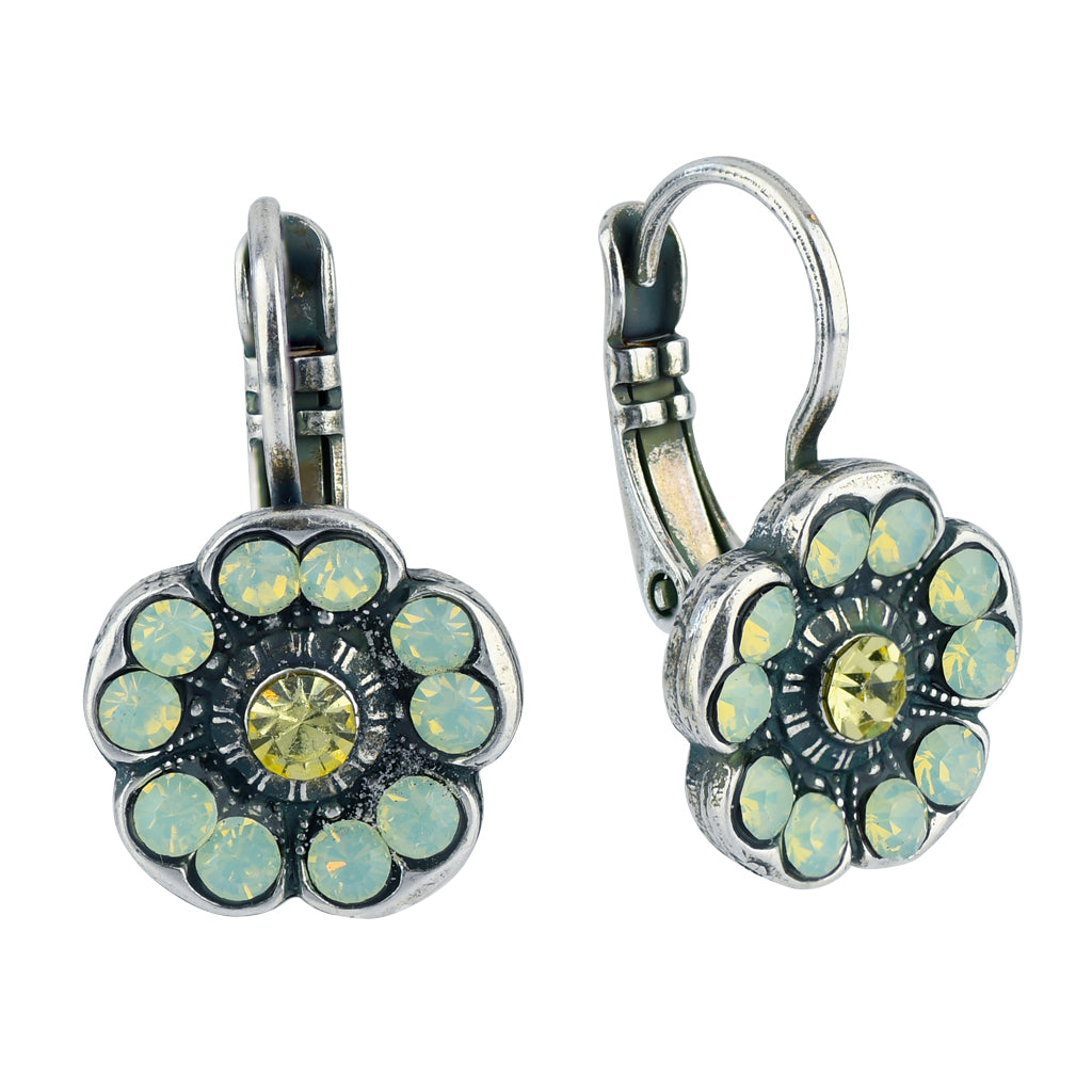 Mariana Jewelry Blondie Silver Plated Petite Blossom Crystal Drop Earrings