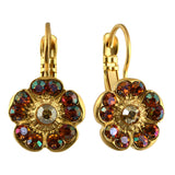 Mariana Jewelry Caramel Earrings, Silver Plated with Swarovski Crystal, Nature Collection MAR-E-1220 137 YG6