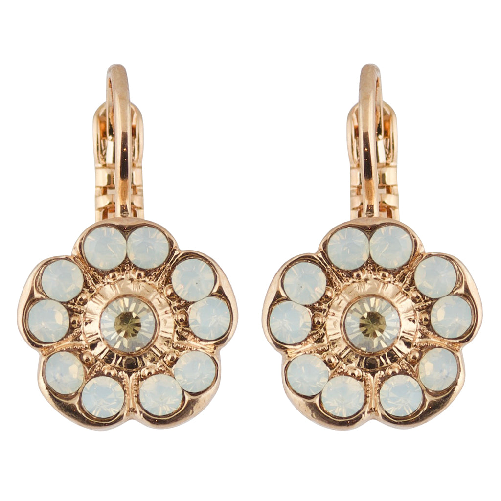 Mariana Cr�me Brulee Rose Gold Plated Petite Blossom Crystal Drop Earrings