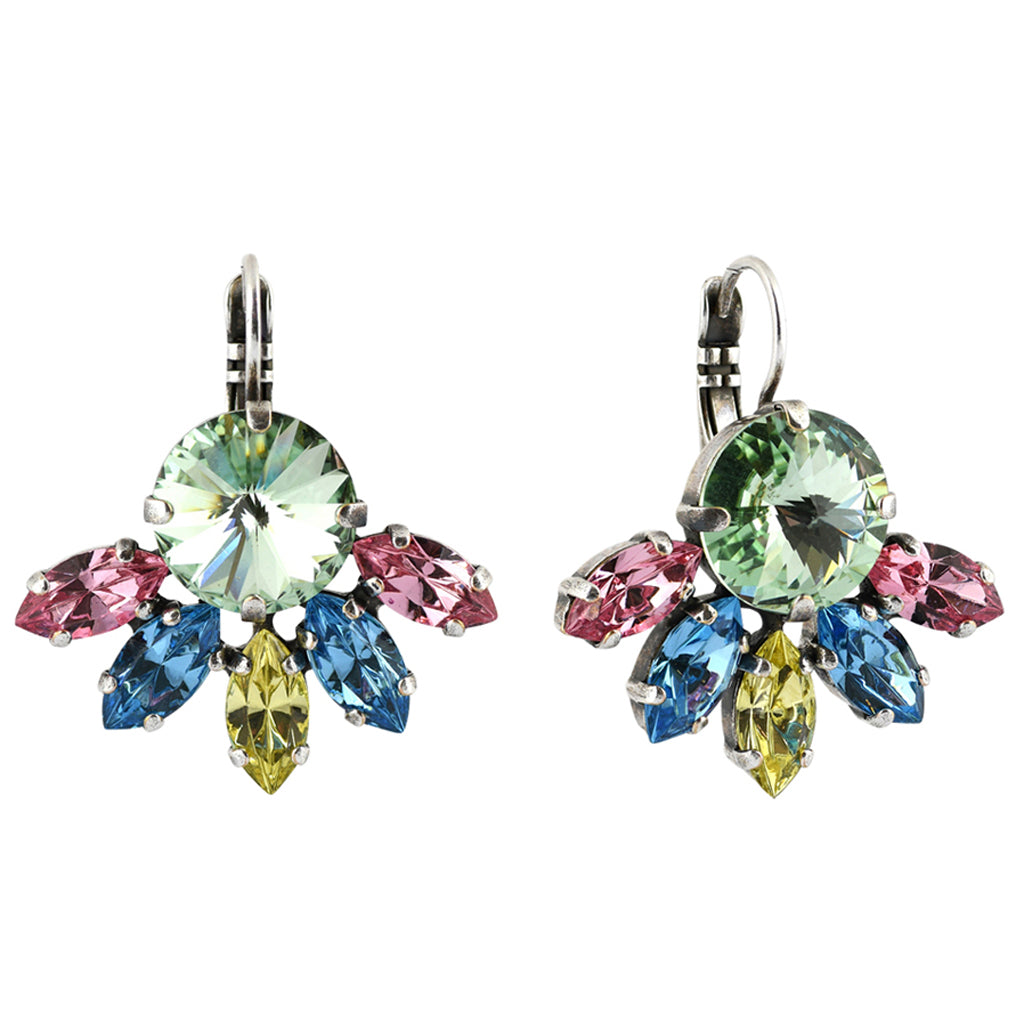 Mariana Jewelry Spring Flowers Earrings, Silver Plated with Swarovski Crystal, Nature Collection MAR-E-1238_3 2141 SP6