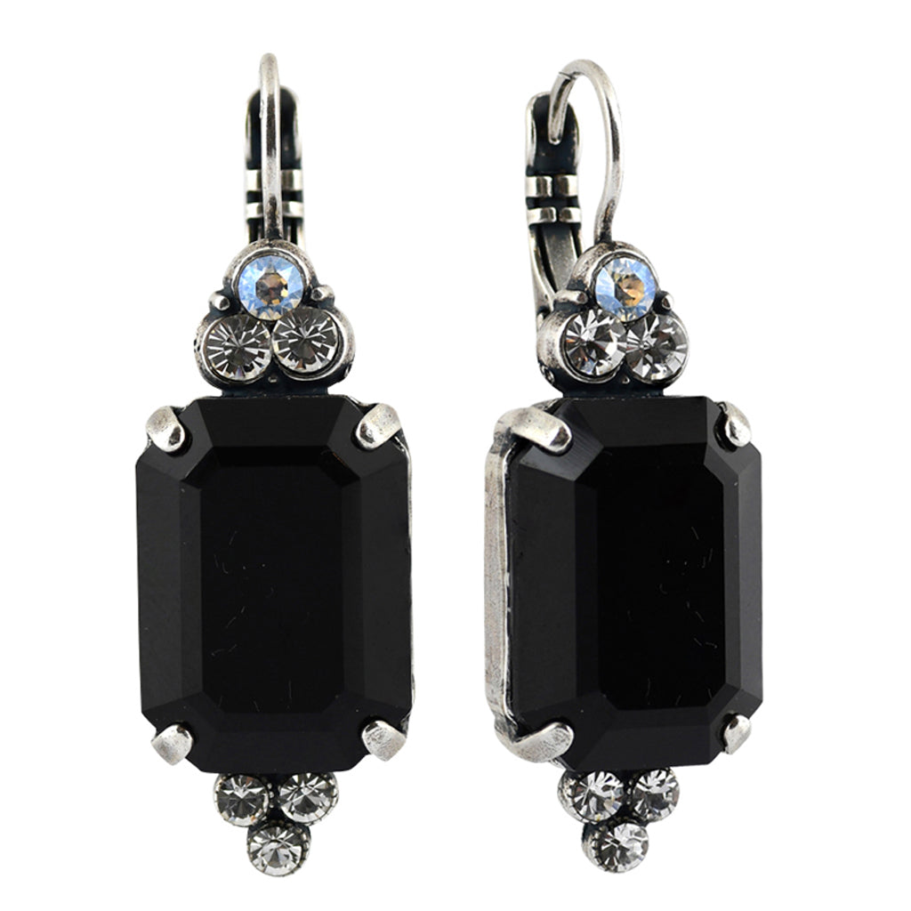Mariana Jewelry Checkmate Earrings, Silver Plated with Swarovski Crystal, Nature Collection MAR-E-1283 280-1 SP6