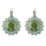 Mariana Jewelry Evergreen Silver Plated Crystal Sunflower Drop Earrings