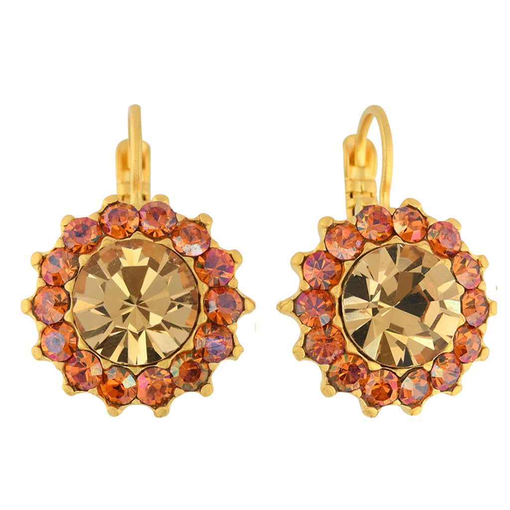 Mariana Jewelry Caramel Earrings, Gold Plated with Swarovski Crystal, Nature Collection MAR-E-1317 137 YG6
