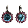 Mariana Jewelry Spring Flowers Earrings, Silver Plated with Swarovski Crystal, Nature Collection MAR-E-1317 2141 SP6
