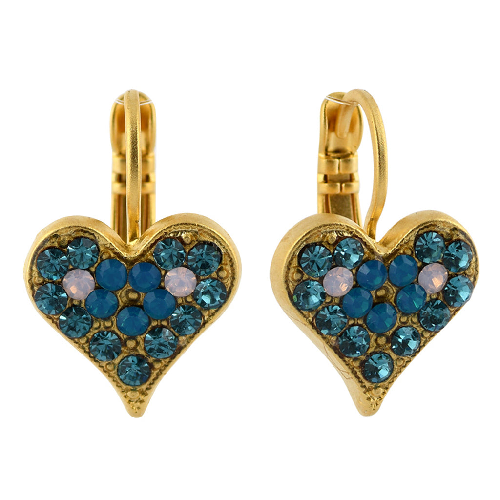 Mariana Jewelry Peacock Earrings, Gold Plated with Swarovski Crystal, Nature Collection MAR-E-1322 2139 YG6