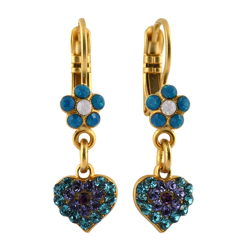 Mariana Jewelry Peacock Earrings, Gold Plated with Swarovski Crystal, Nature Collection MAR-E-1322_4 2139 YG6