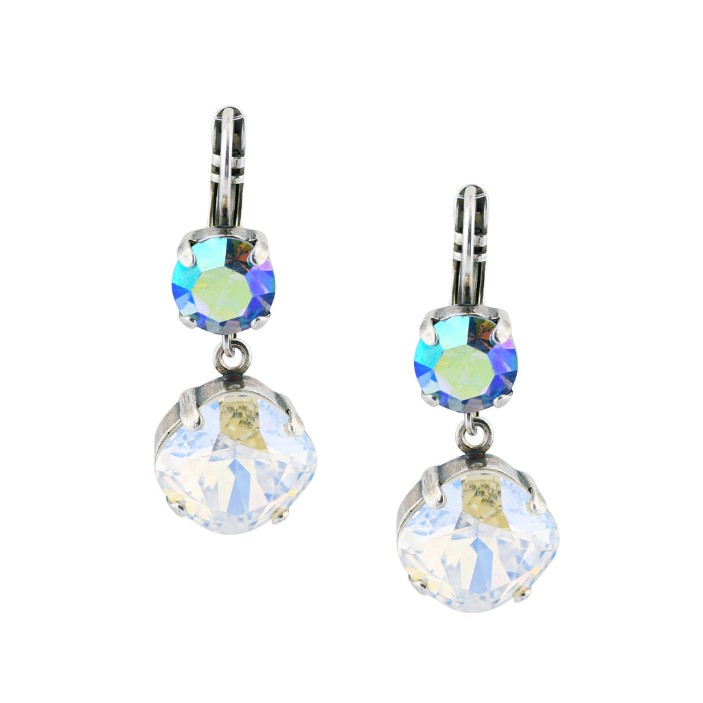 Mariana Jewelry Italian Ice Round Drop Earrings, Silver Plated 1326/0 141