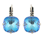 Mariana Silver Plated Crystal Rounded Square Drop Earrings