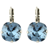 Mariana Jewelry Frost Silver Plated Crystal Rounded Square Drop Earrings
