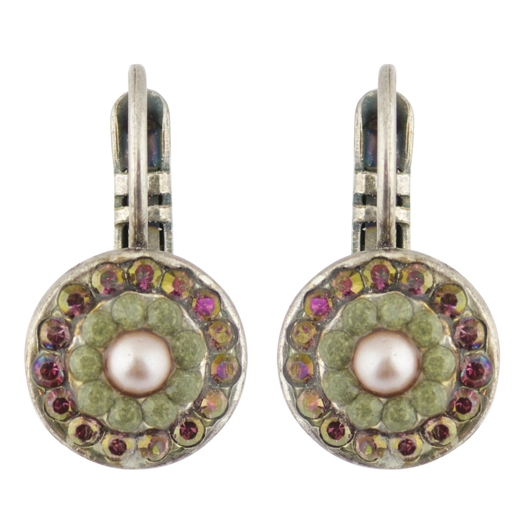 Mariana Elizabeth Silver Plated Concentric Drop Earrings