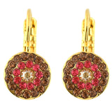 Mariana Jewelry Gingerbread Gold Plated Petite Concentric Drop Earrings 1344