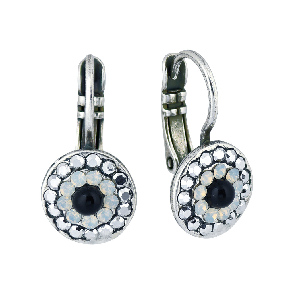 Mariana French Silk Silver Plated Concentric Drop Earrings 1344 126