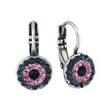 Mariana Jewelry Peppermint Silver Plated Concentric Drop Earrings 1344 143