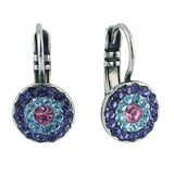 Mariana Cotton Candy Silver Plated Concentric Drop Earrings 1344 144