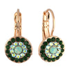 Mariana Jewelry Fern Earrings, Rose Gold Plated with Swarovski Crystal, Nature Collection MAR-E-1344 2143 RG6