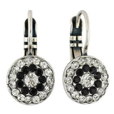 Mariana Jewelry Checkmate Earrings, Silver Plated with Swarovski Crystal, Nature Collection MAR-E-1344 280-1 SP6