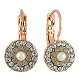 Mariana Jewelry Seashell Earrings, Rose Gold Plated with Swarovski Crystal, Nature Collection MAR-E-1344 39361 RG6
