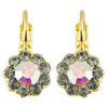 Mariana Painted Lady Small Flower Drop Earrings, Gold Plated