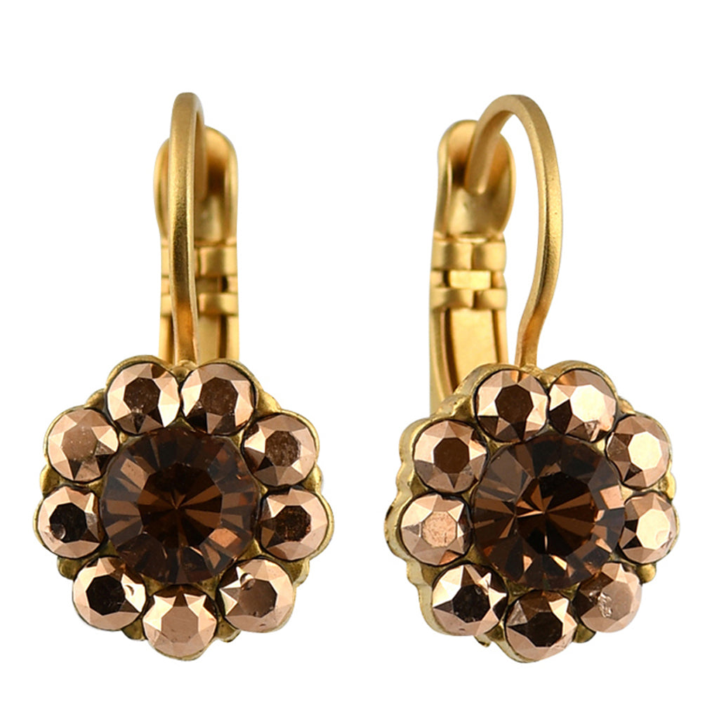 Mariana Jewelry Caramel Earrings, Gold Plated with Swarovski Crystal, Nature Collection MAR-E-1379 137 YG6