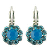 Mariana Peacock Small Flower Drop Earrings, Silver Plated Crystal