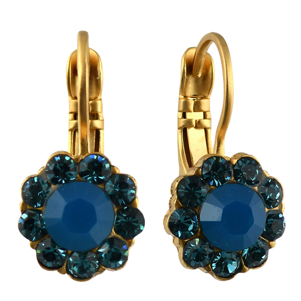 Mariana Jewelry Peacock Earrings, Gold Plated with Swarovski Crystal, Nature Collection MAR-E-1379 2139 YG6