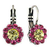 Mariana Jewelry Spring Flowers Earrings, Silver Plated with Swarovski Crystal, Nature Collection MAR-E-1379 2141 SP6