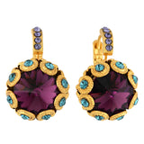 Mariana Jewelry Peacock Earrings, Gold Plated with Swarovski Crystal, Nature Collection MAR-E-1386 2139 YG6