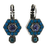 Mariana Jewelry Peacock Earrings, Silver Plated with Swarovski Crystal, Nature Collection MAR-E-1411_3 2139 SP6