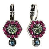 Mariana Jewelry Spring Flowers Earrings, Silver Plated with Swarovski Crystal, Nature Collection MAR-E-1411_3 2141 SP6