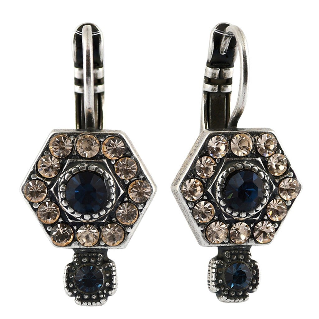 Mariana Jewelry Ocean Earrings, Silver Plated with Swarovski Crystal, Nature Collection MAR-E-1411_3 2142 SP6