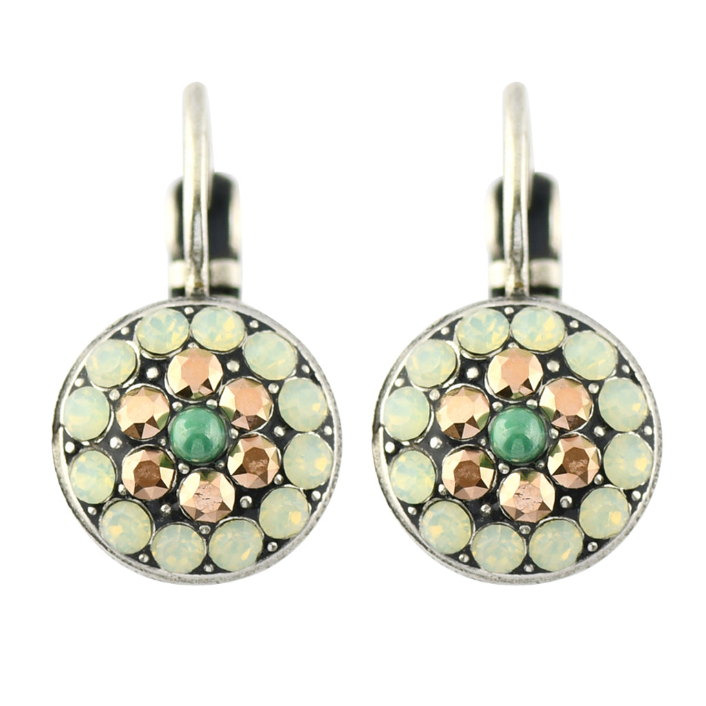 Mariana Jewelry Evergreen Silver Plated Jewel Cluster Crystal Drop Earrings