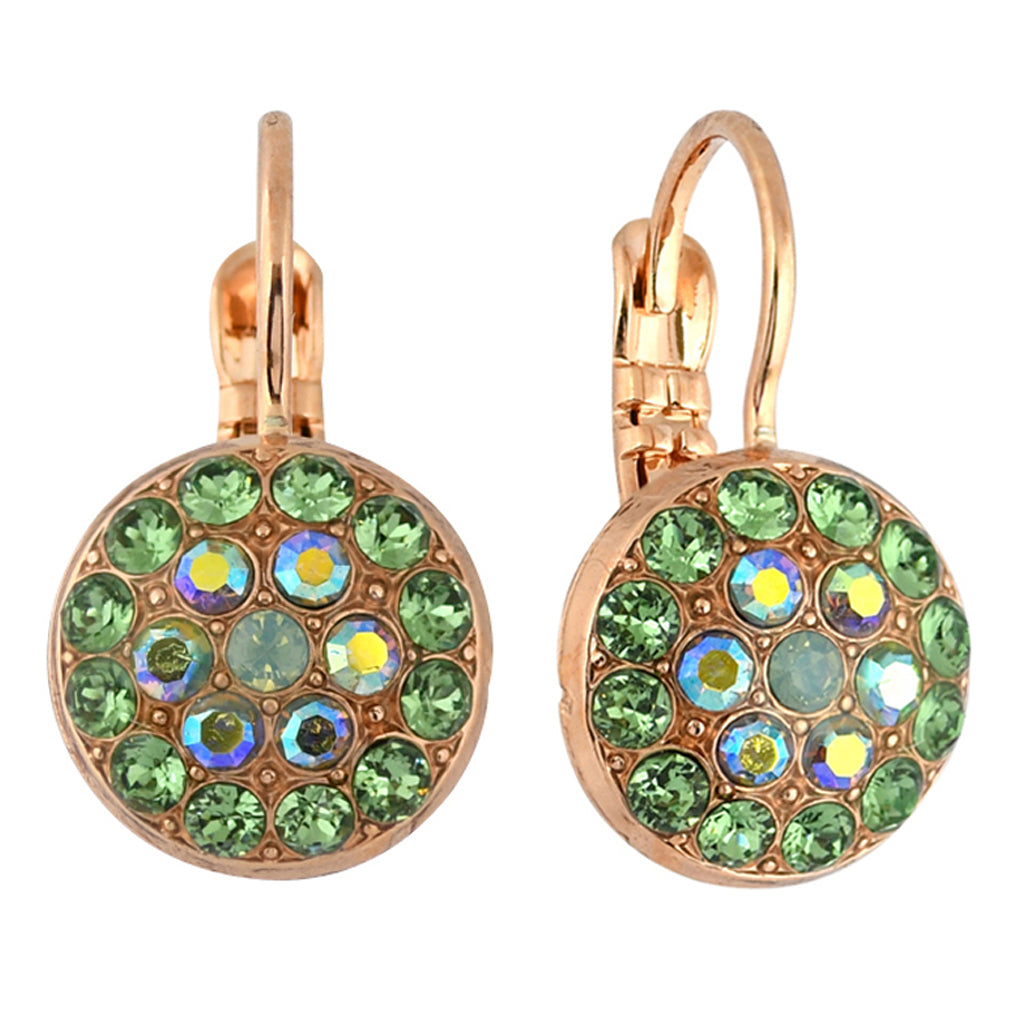 Mariana Jewelry Fern Earrings, Rose Gold Plated with Swarovski Crystal, Nature Collection MAR-E-1416 2143 RG6