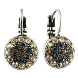 Mariana Jewelry Moon Drops Earrings, Silver Plated with Swarovski Crystal, Nature Collection MAR-E-1416 216-3 SP6