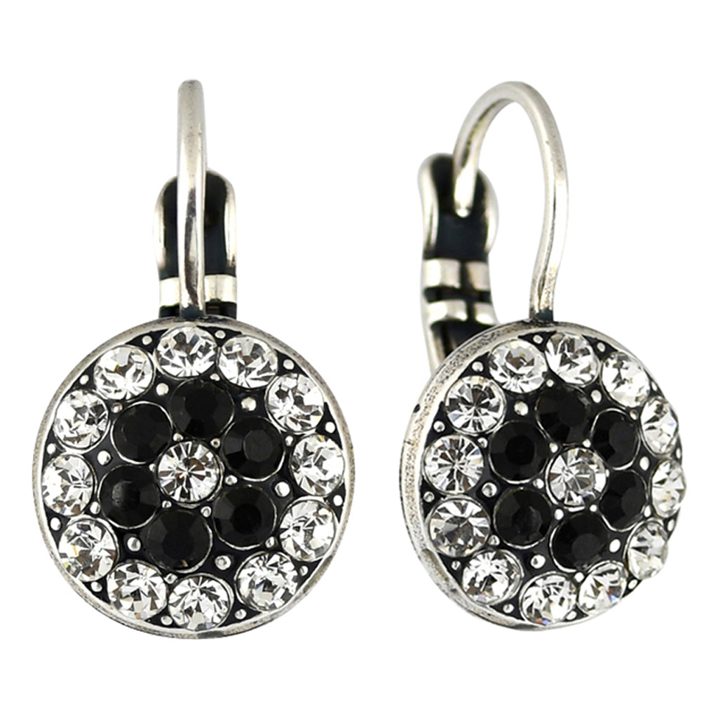 Mariana Jewelry Checkmate Earrings, Silver Plated with Swarovski Crystal, Nature Collection MAR-E-1416 280-1 SP6