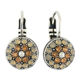 Mariana Jewelry Champagne and Caviar Earrings, Silver Plated with Swarovski Crystal, Nature Collection MAR-E-1416 3911 SP6